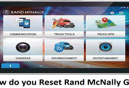 Reset Rand McNally GPS